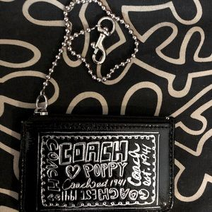 Coach Card Holder w/chain